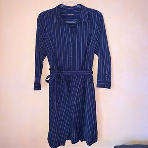 Banana Republic | Blue Wrap Dress Size 14